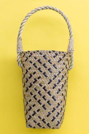 Lepironia articalata (Krajood) or Sedge handmade bag Archivio Fotografico