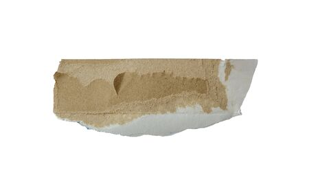Torn paper, Ripped paper on white background.