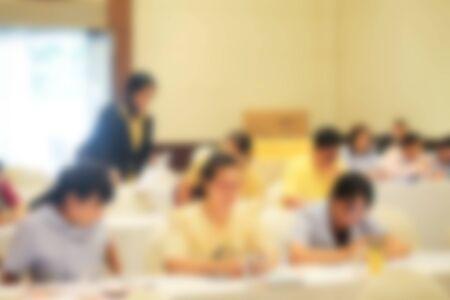 Blurred image inside the banquet room. Archivio Fotografico