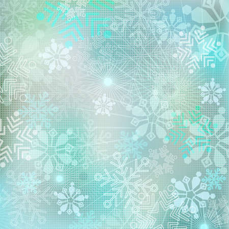 addition: Winter snowflakes New Year Pattern