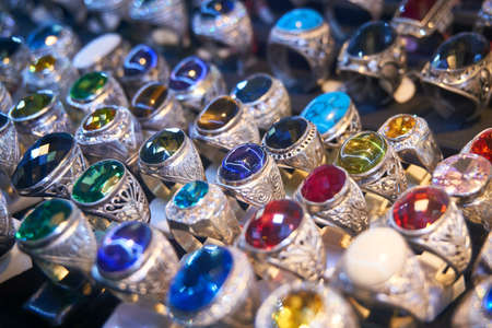 silver: Rings with gemstones