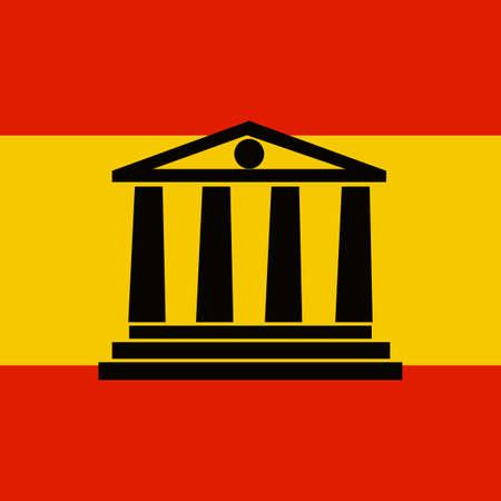 barcelona: Spain Symbol Vector Monument Barcelona