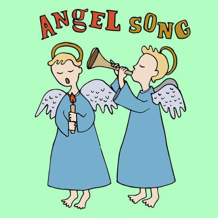 carols: Christmas and Angels singing carols