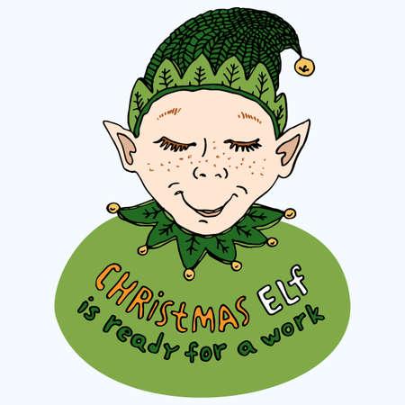 mythical festive: Christmas Elf Card