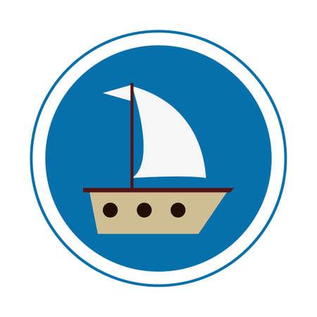 galley: Ship design illustration. Vector Illustration