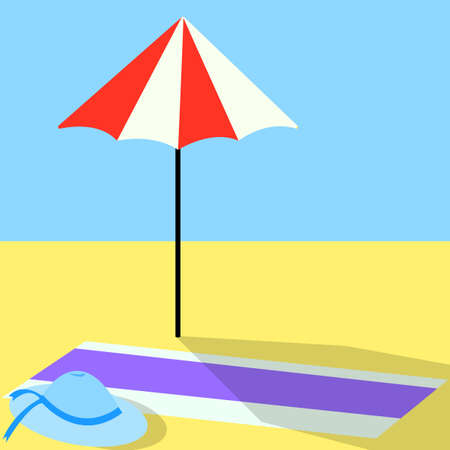 vocation: Summertime traveling icon. For vocation design Illustration