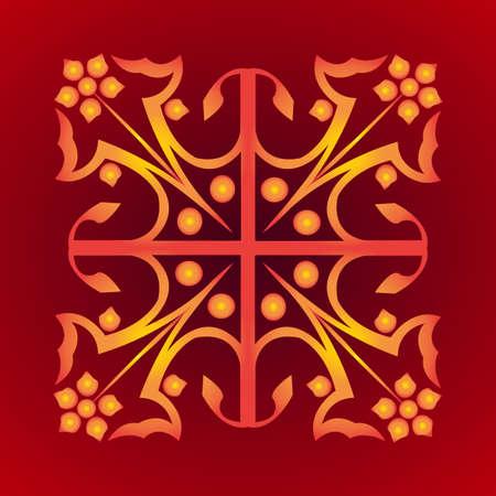 mideast: Ornament in east style. Mid-east carpet. Wallpaper vintage pattern. Vector illustration