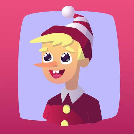pinocchio: Pinocchio theme. Vector design illustration