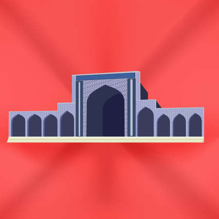 citadel: Castle icon. Vector illustration of an isometric medieval castle tower. Ancient fortress. Stronghold building. Citadel landmark. Vintage residence. Vector design illustration