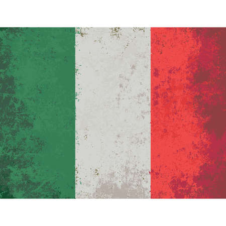 italian tradition: Grunge styled flag of Italy.