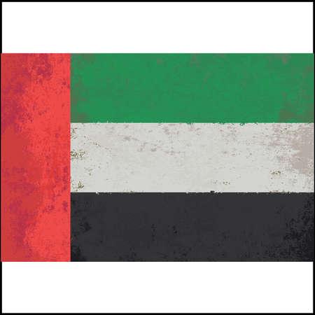 italian tradition: Grunge styled flag of United Arab Emirates. Illustration