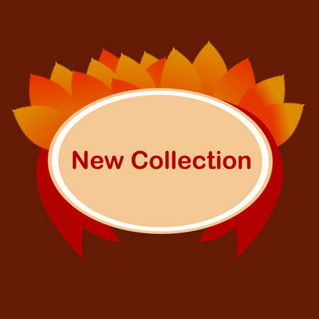 new collection: Promotion of the new collection. Special offer. Vector illustration with colorful autumn leaves