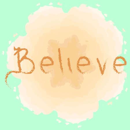 believe: Creer cartel de la tipograf�a.