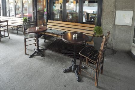 pult: outside of restaurant interior