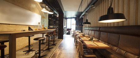 panorama of restaurant interior