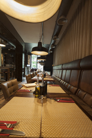 pult: table in restaurant interior