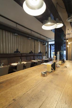 table in restaurant interior