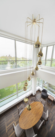 duplex: chandalier ina  a luxury duplex apartment Stock Photo