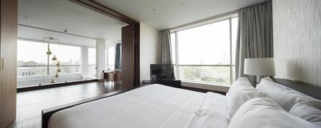 luxury bedroom: Luxury classic bedroom interior Stock Photo