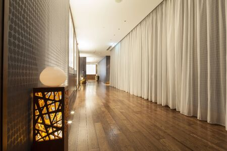 beautiful hall with wooden flooring