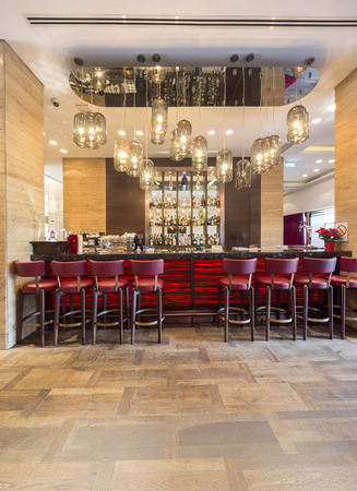 Luxury hotel lobby interior 에디토리얼