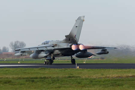 A RAF Panavia Tornado GR.4 taking off at the Frisian Flag Editorial
