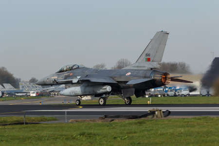 A Portuguese F-16 Fighting Falcon at the Frisian Flag