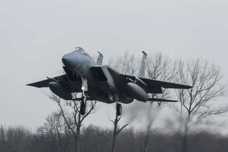USAF F-15 Eagle during the exercise Frisian Flag