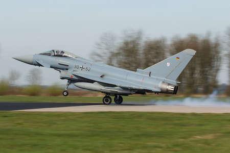 Eurofighter 2000 Typhoon II touching the Frisian Flag exercise