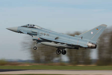 Eurofighter 2000 Typhonn II landing during the Frisian Flag Editorial