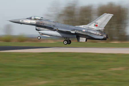 A Portuguese F-16 landing after it`s mission for the Frisian Flag Editorial