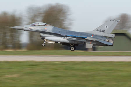 322 sq. Ft. RNLAF F-16 landing after Frisian Flag mission