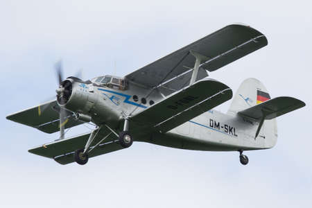 Oostwold, Netherlands May 25, 2015: Antonov AN-2 flying by