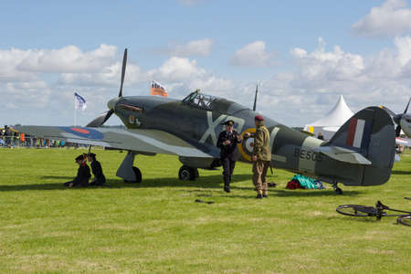 Oostwold, Netherlands May 25, 2015: A Hurricane at Oostwold Airshow Redactioneel