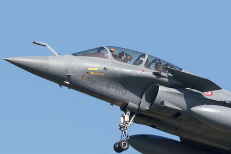 Leeuwarden, Netherlands April 18, 2018: A French Dassault Rafale during the Frisian Flag exercise Redactioneel