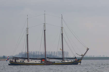 Kampen, The Netherlands - March 30, 2018: Clipper Ambiance is sailing to Kampen to attend Sail Kampen