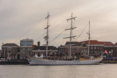 Kampen, The Netherlands - March 30, 2018: Barque De Stedemaeght at Sail Kampen