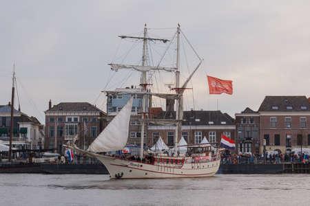 Kampen, The Netherlands - March 30, 2018:Sailing boat