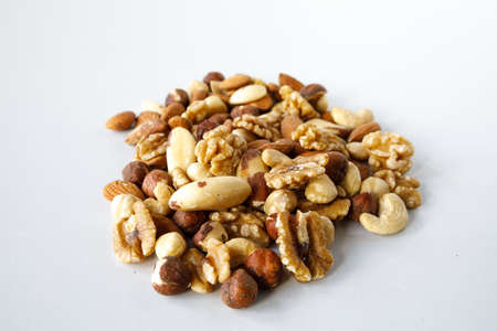 A pile of various nuts