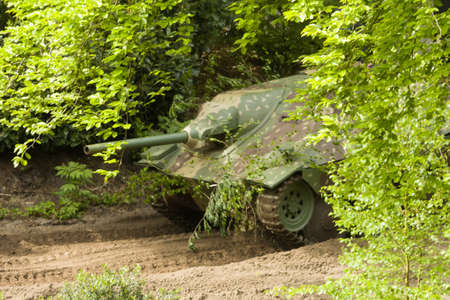OVERWAGE NETHERLANDS MAY 17 2015: Hetzer at Militrack event