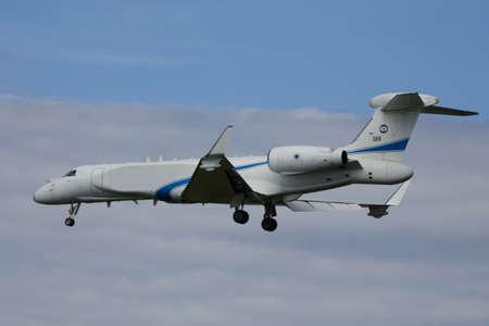Nörvenich Germany Aug. 20 2020: Israeli Air Force IAI EL / W-2085 landing at Nörvenich Air Base.