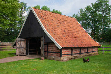 Old Dutch barn in Ootmarsum, Overijssel, The Netherlands