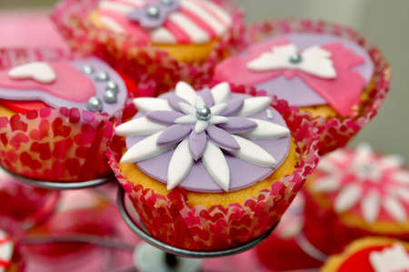 tasty cupcake on standard photo
