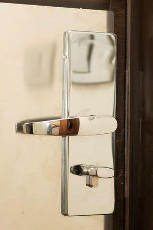 hotel room doorlock photo