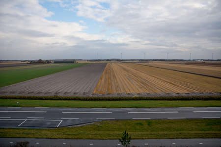 dutch countryside with impressive cloudscape photo