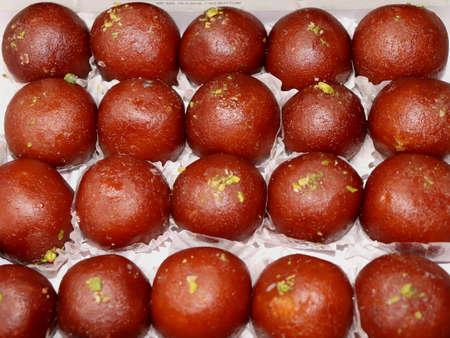 Indian Traditional Sweet Gulab Jamun Stock Photo