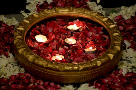 Beautiful Indoor Flower Petal Decoration
