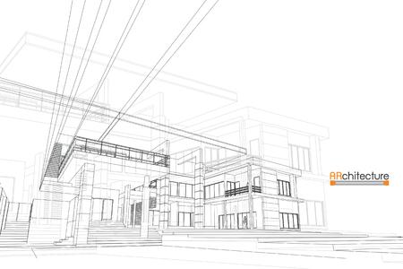 Schets ontwerp van huis, vector Stockfoto - 85262927