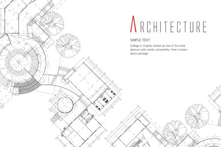 Architectural sketch icon. 矢量图像