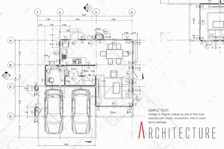 Architecture illustration of a building.